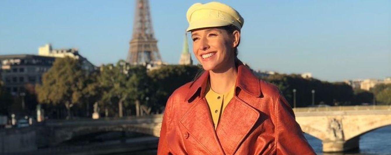 У широких штанях, плащі і капелюшку: стильна Катя Осадча показала знімки з прогулянки Парижем