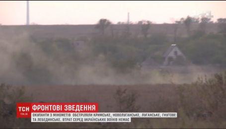 Фронтові зведення: окупанти на Донбасі обстріляли Луганське, Гнутове та Лебединське