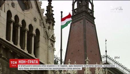 Консула Угорщини у місті Берегове оголосили персоною нон ґрата в Україні