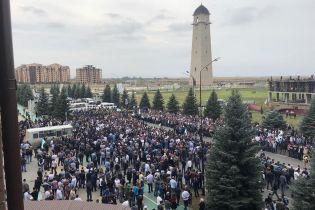 В Інгушетії знову протести проти обміну територіями з Чечнею, правоохоронці відкрили вогонь