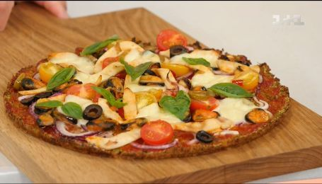 Дієтична піца з морепродуктами - рецепти Сенічкіна