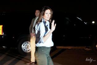 В джинсах-скинни и кедах: стильный образ Мелании Трамп
