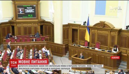 Депутаты приняли закон об украинском языке в первом чтении