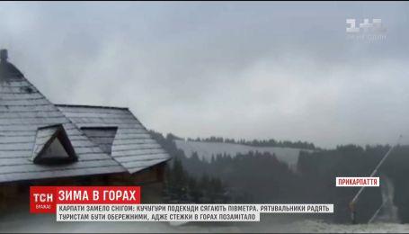 Карпати замело: в горах утворилися півметрові снігові кучугури