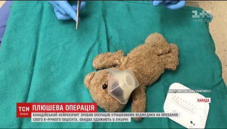 Канадський нейрохірург провів операцію плюшевому ведмедику