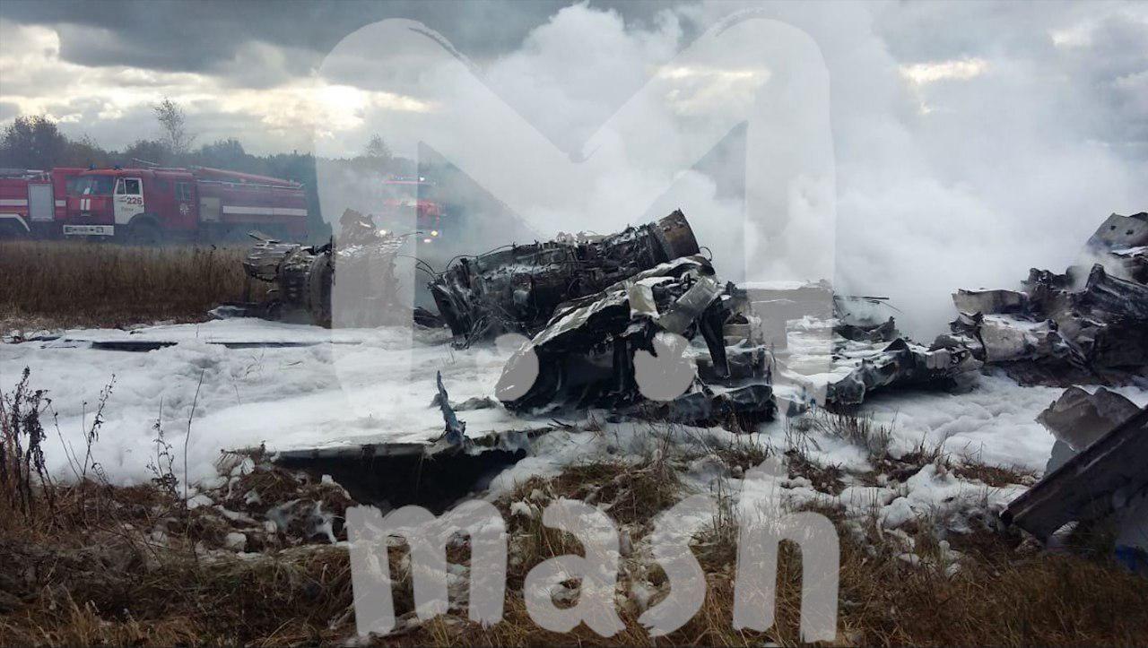 Падіння винищувача Міг-29 під Москвою