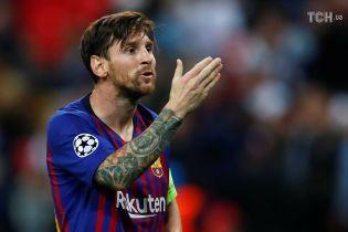 Месси во второй раз подряд стал лучшим игроком недели в Лиге чемпионов