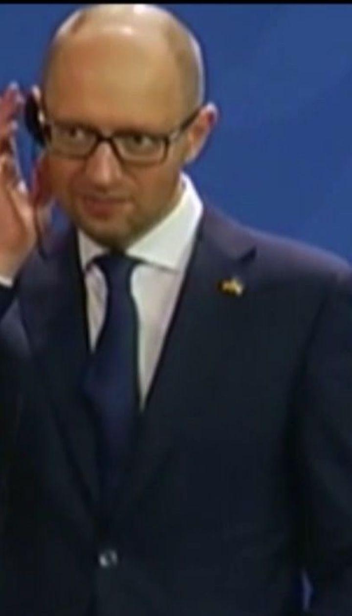 Арсений Яценюк обсудил с Ангелой Меркель вопросы безопасности и экономического сотрудничества