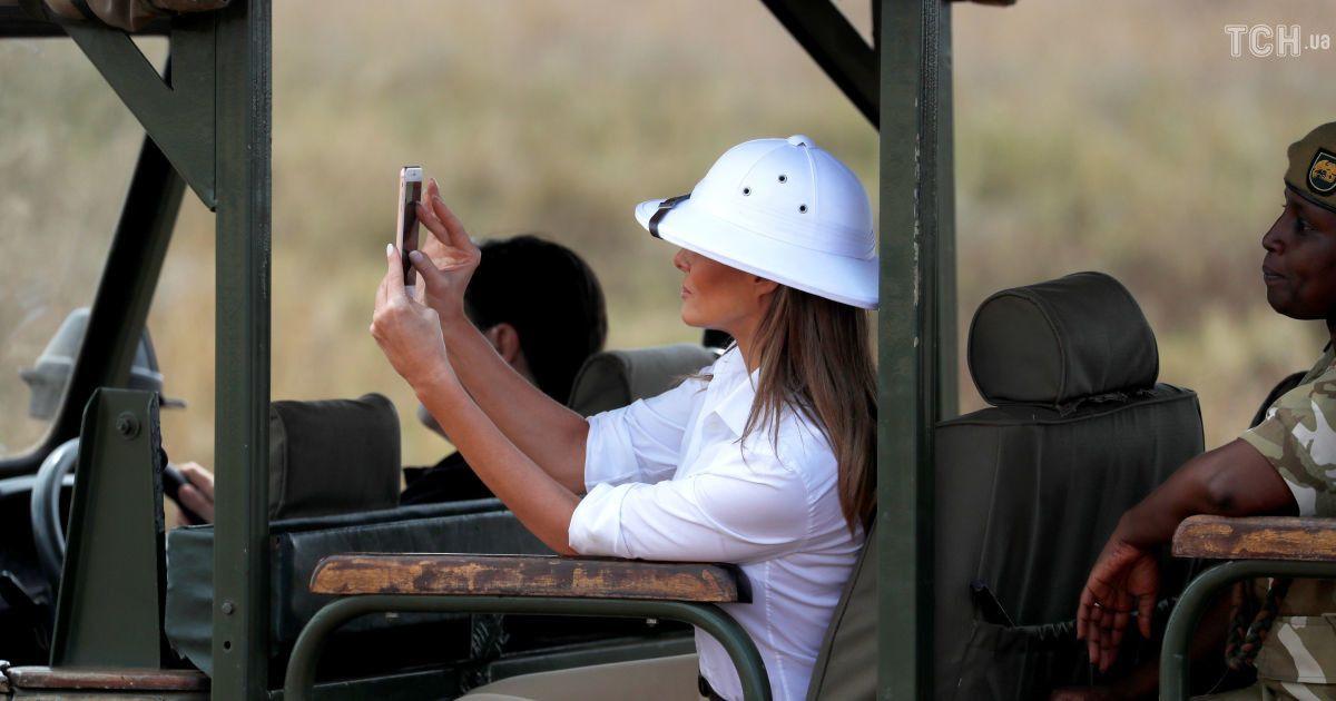 Мелания Трамп в Африке: первая леди США покормила слонят и пофотографировала зебр во время сафари