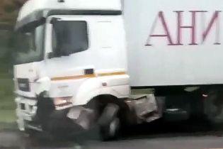 У Росії вантажівка Ані Лорак потрапила у смертельну ДТП