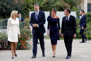 Роскошная королева Летиция и стильная Брижит Макрон: испанская королевская чета на приеме во Франции