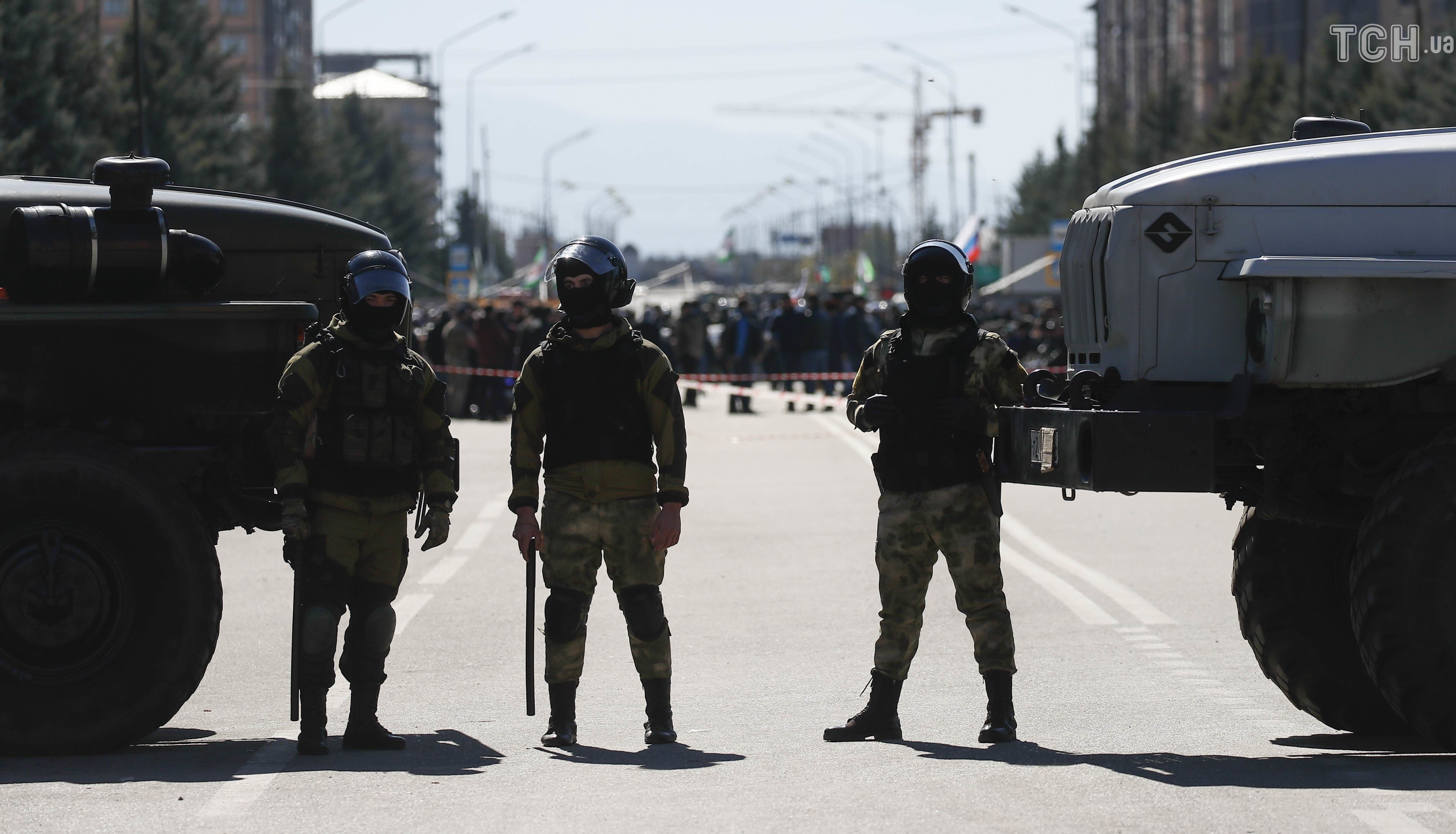 російські військові, Росгвардія, російська поліція, Інгушетія