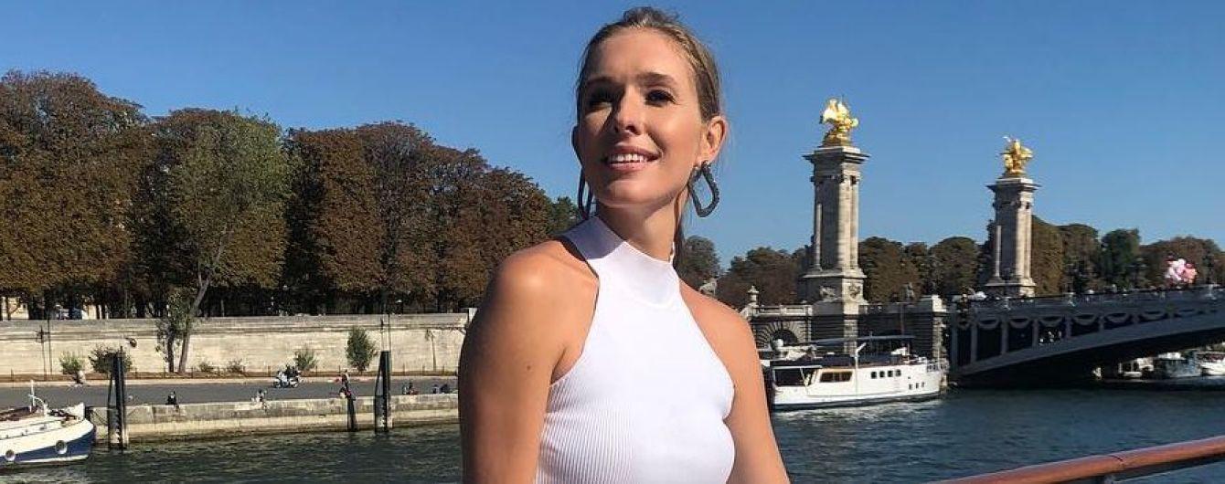 Total white: Катя Осадчая предстала в новом образе