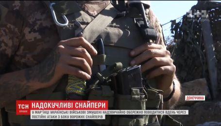 Под Донецком вражеские снайперы круглосуточно обстреливают позиции военных