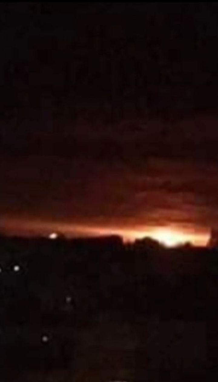 На Черниговщине занялся арсенал с боеприпасами