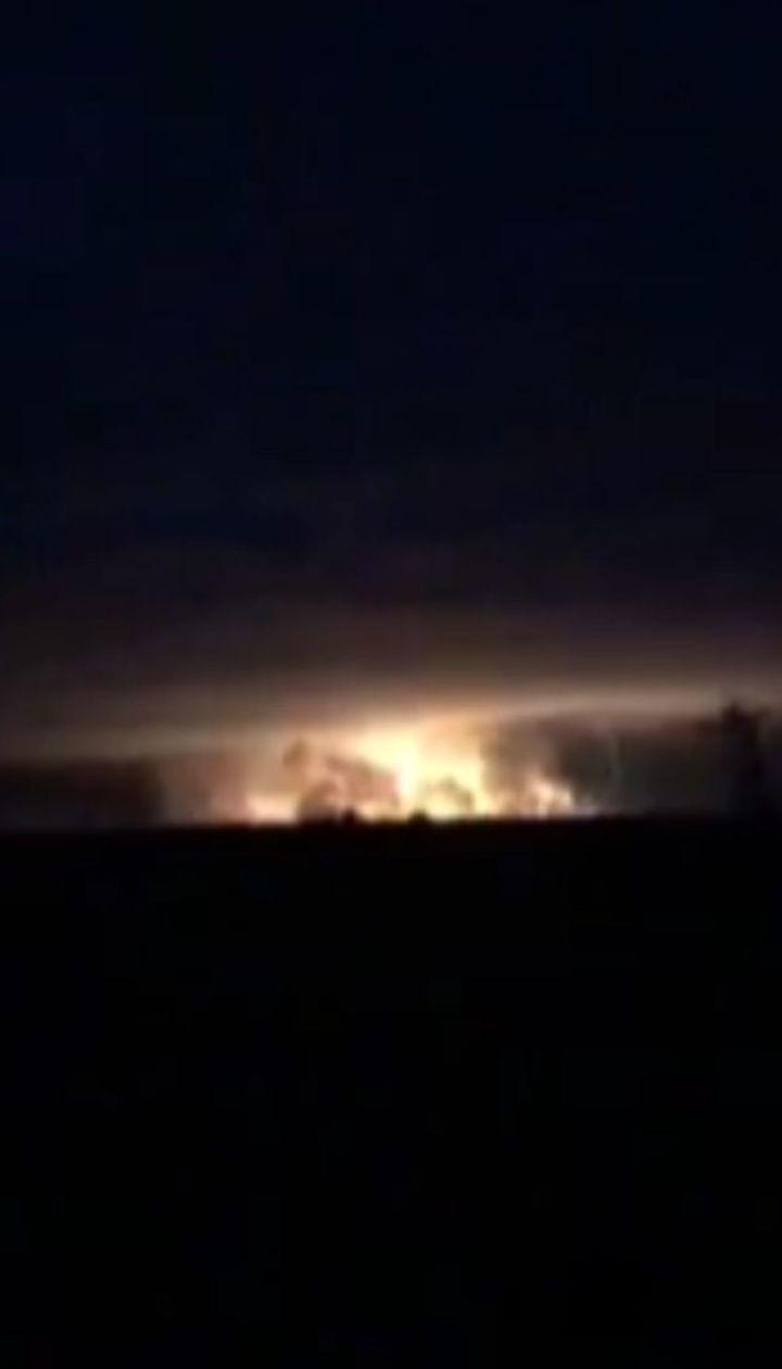 Взрывы на складе с боеприпасами вблизи Ични
