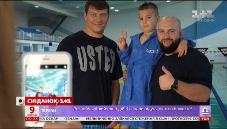 Родители выиграли для сына тренировки с чемпионом мира Олегом Лисогором