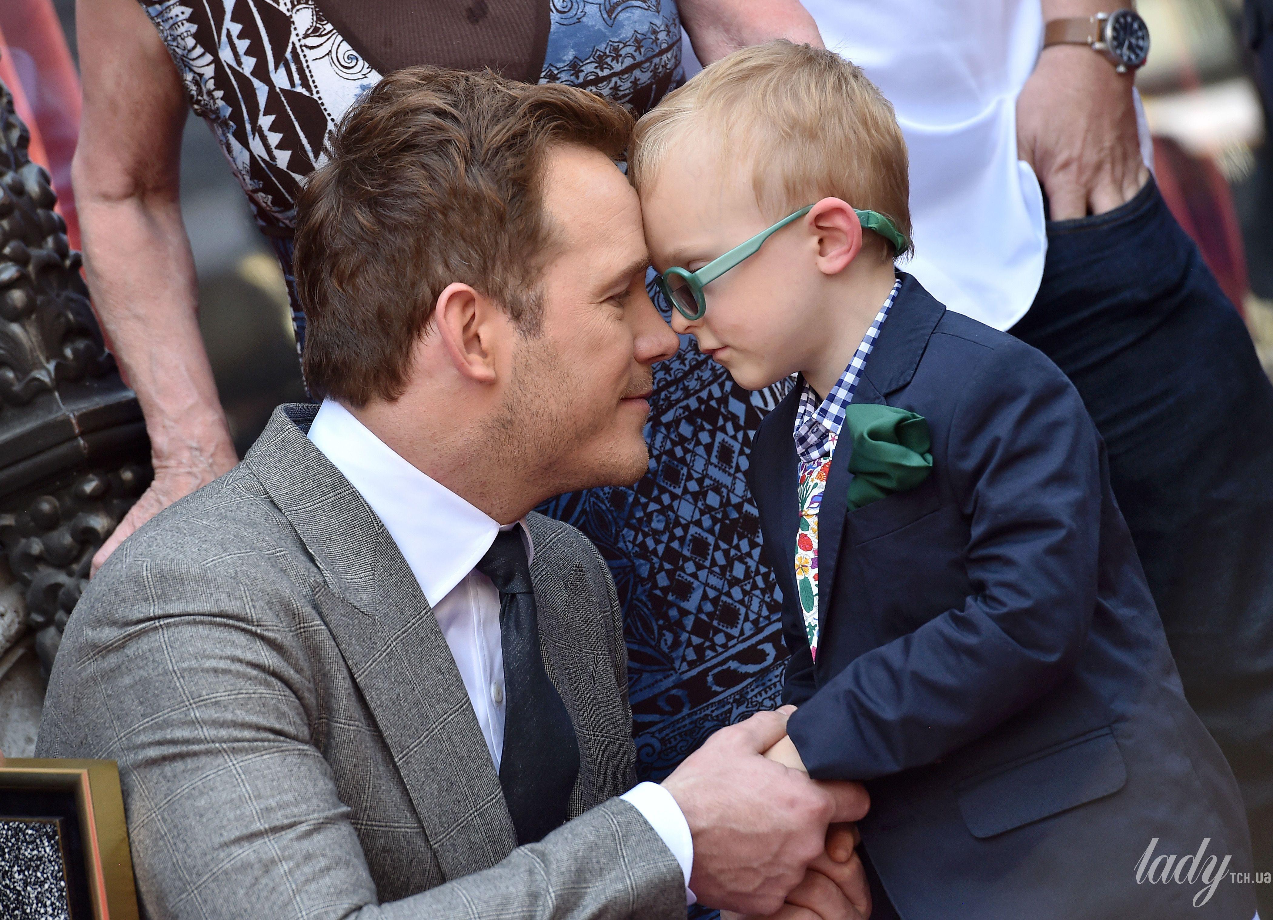 Крис Прэтт и его сын Джек