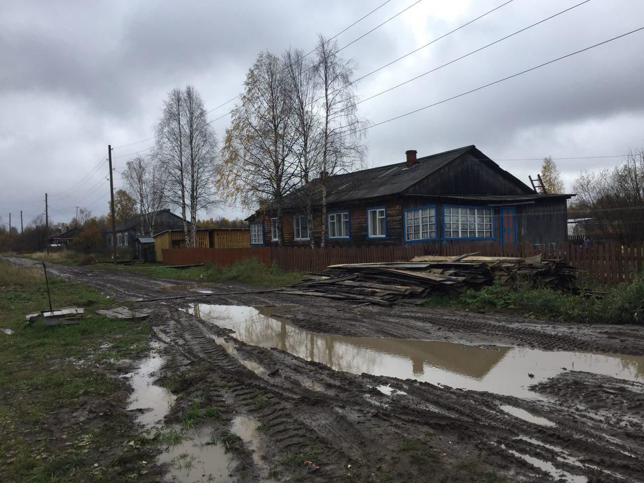 Село Лойга, де жив Мішкін