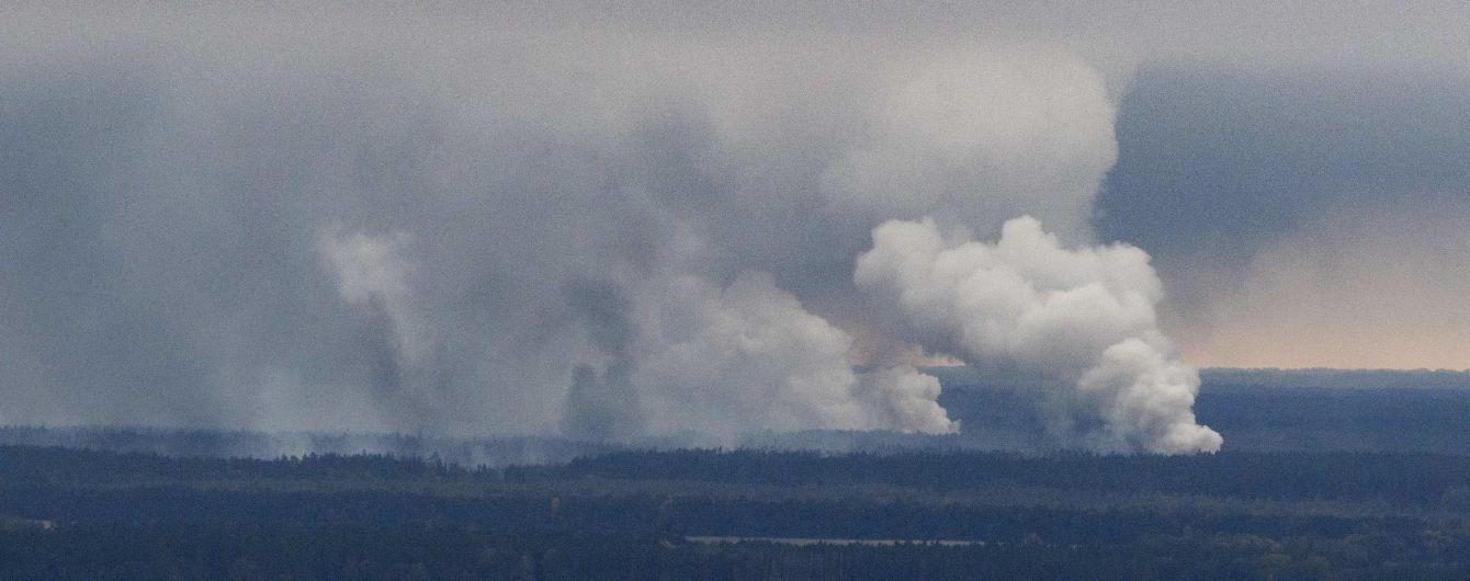Локалізовано 35% пожежі на військових складах біля Ічні - Генштаб