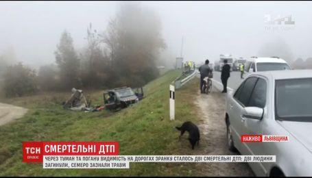 Через туман на Львівщині сталося одразу дві смертельні ДТП