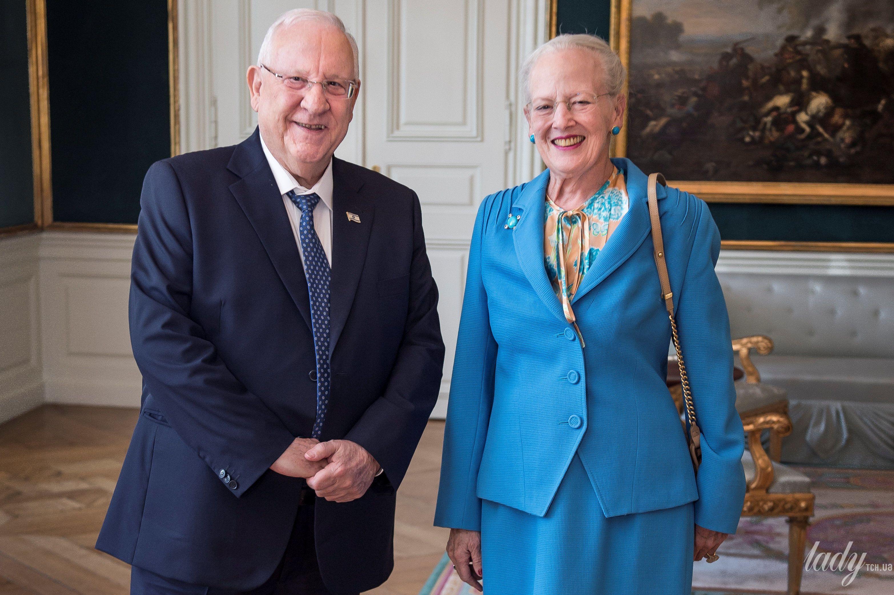 Королева Маргрете II и президент Израиля Реувен Ривлин_2