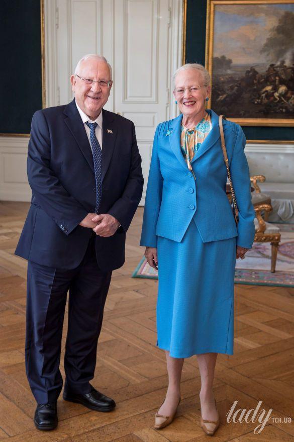 Королева Маргрете II и президент Израиля Реувен Ривлин_1