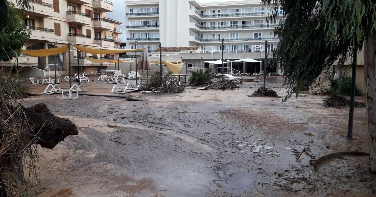 Наводнение на острове Майорка в Испании