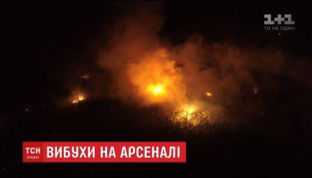 Пожар на Ичнянских складах полностью потушили