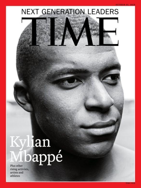 Кіліан Мбаппе на обкладинці Time