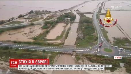 Францию, Италию и Испанию накрыли наводнения