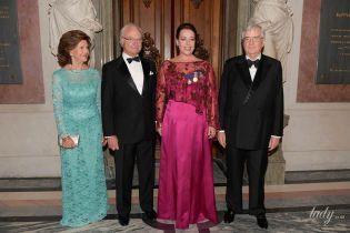 Роскошно и слегка прозрачно: 74-летняя королева Сильвия впечатлила вечерним образом