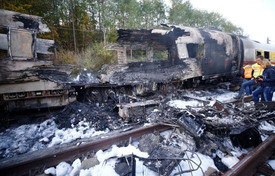В Німеччині на ходу загорівся пасажирський швидкісний потяг