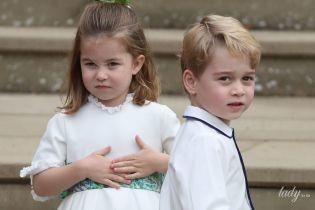 Це так мило: діти Кембриджів Джордж і Шарлотта на весіллі принцеси Євгенії