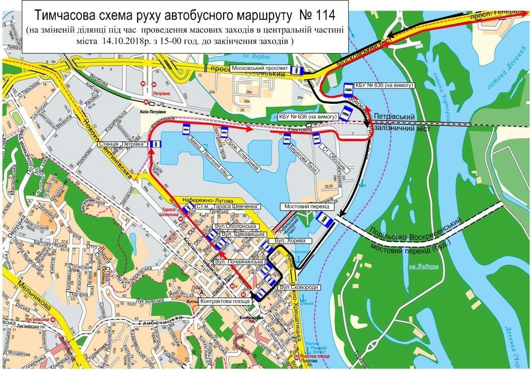 Перекриття рух, Київ