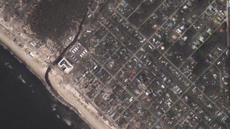 """Наслідки урагану """"Майкл"""" з супутника 2"""