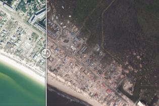 "Не оставил и следа от зданий и зелени. Фото до и после сокрушительного ""шторма века"" во Флориде"