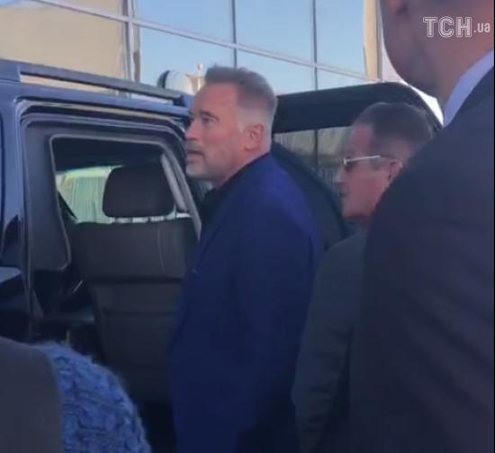 В Украину впервые прибыл легендарный Арнольд Шварценеггер