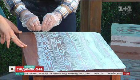 Как обновить любимый старый стол - Осень на даче