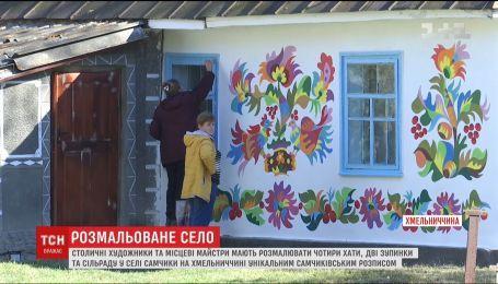 Художники взялись украсить уникальной росписью здания в селе Самчики