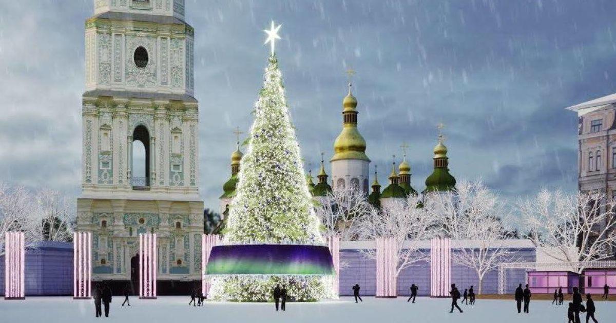 Проект різдявяно-новорічного містечка на Софійській площі в Києві @ Folk Ukraine / Facebook