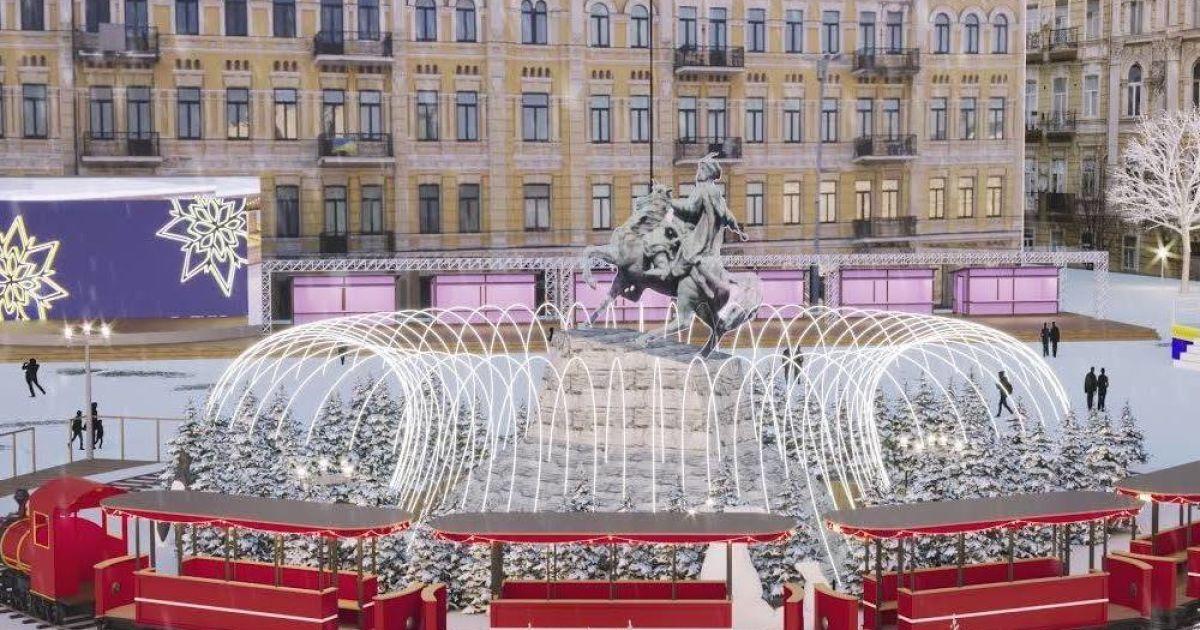 Проект різдявяно-новогоднего городка на Софийской площади в Киеве @ Folk Ukraine / Facebook