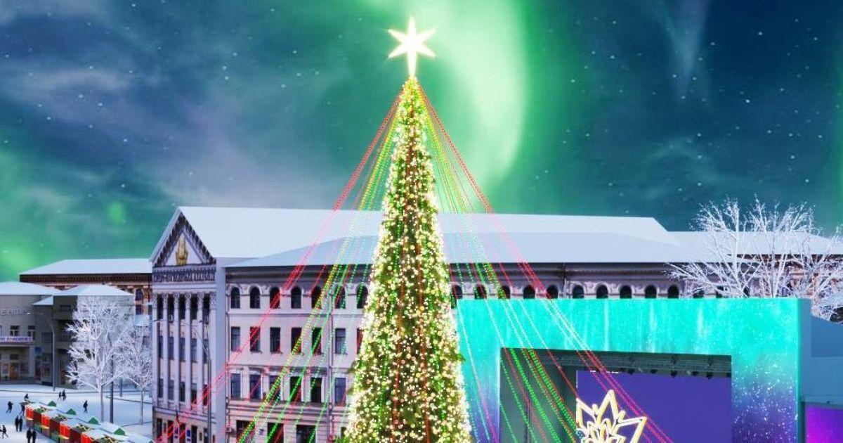 Проект різдявяно-новорічного містечка на Контрактовій площі в Києві @ Folk Ukraine / Facebook