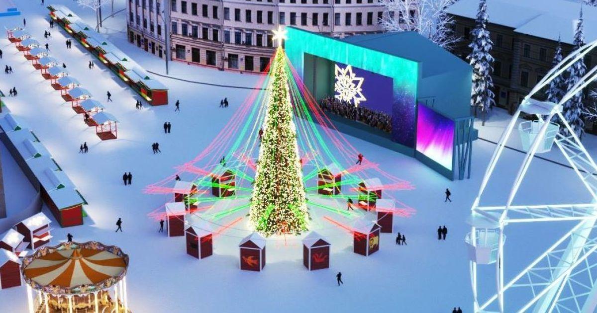 Проект різдявяно-новогоднего городка на Контрактовой площади в Киеве