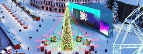 В центре Киева установят две большие елки и обустроят возле них новогодние городки