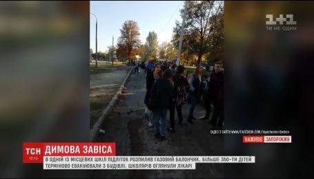 В Запорожье девочка распылила газовый баллончик во время уроков