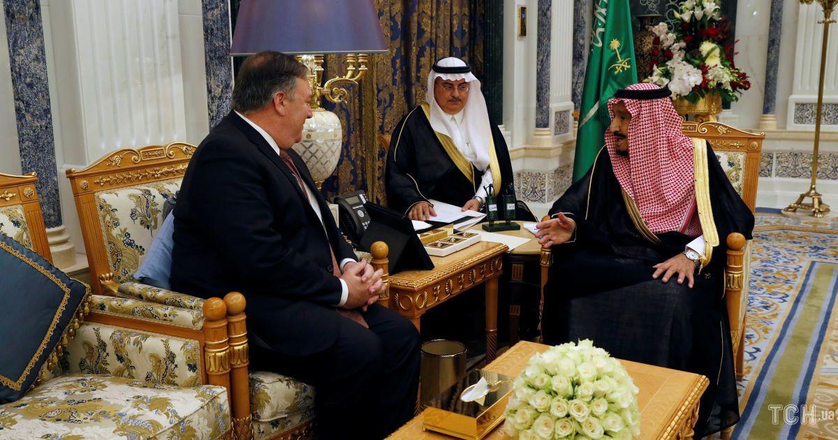 Майк Помпео у Саудівській Аравії, зустріч з королем Салманом