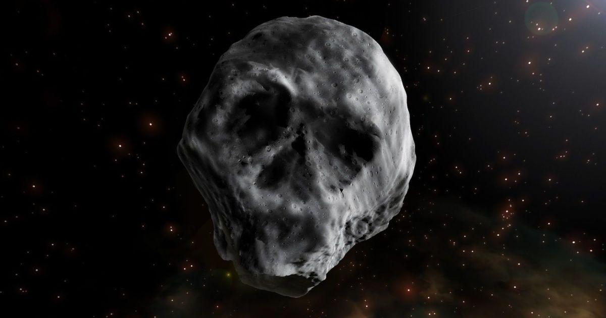 После Хэллоуина мимо земли пролетит зловещий астероид-череп