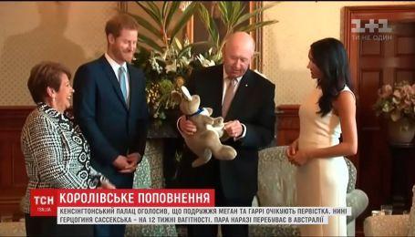 Первую игрушку для будущего малыша подарили принцу Гарри и Меган Маркл в Австралии
