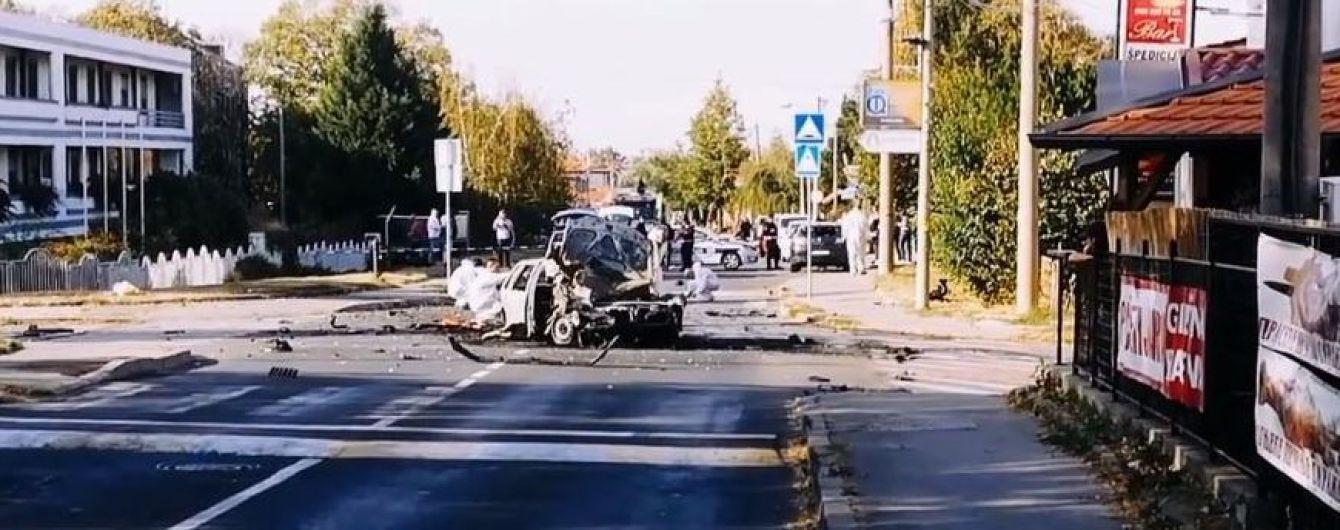 В Белграде посреди дороги взорвалось авто с отцом известной сербской телеведущей